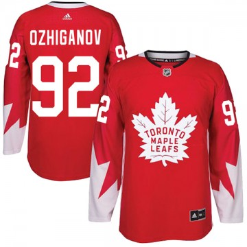 Authentic Adidas Youth Igor Ozhiganov Toronto Maple Leafs Alternate Jersey - Red