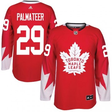 Authentic Adidas Youth Mike Palmateer Toronto Maple Leafs Alternate Jersey - Red