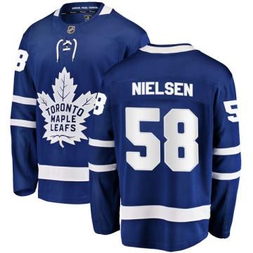 Breakaway Fanatics Branded Men's Andrew Nielsen Toronto Maple Leafs Home Jersey - Blue